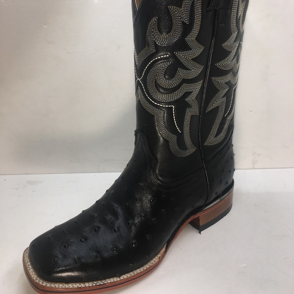 e09c5eff4d5 Men Genuine Leather Ostrich Print CowBoy Boots Boutique